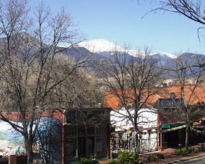 Jake and Telly's Patio, View of Pike's Peak