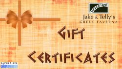 Jake and Telly's Gift Certificates,