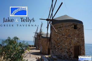 Windmills in Chios, an Island in the Eastern Mediterranean