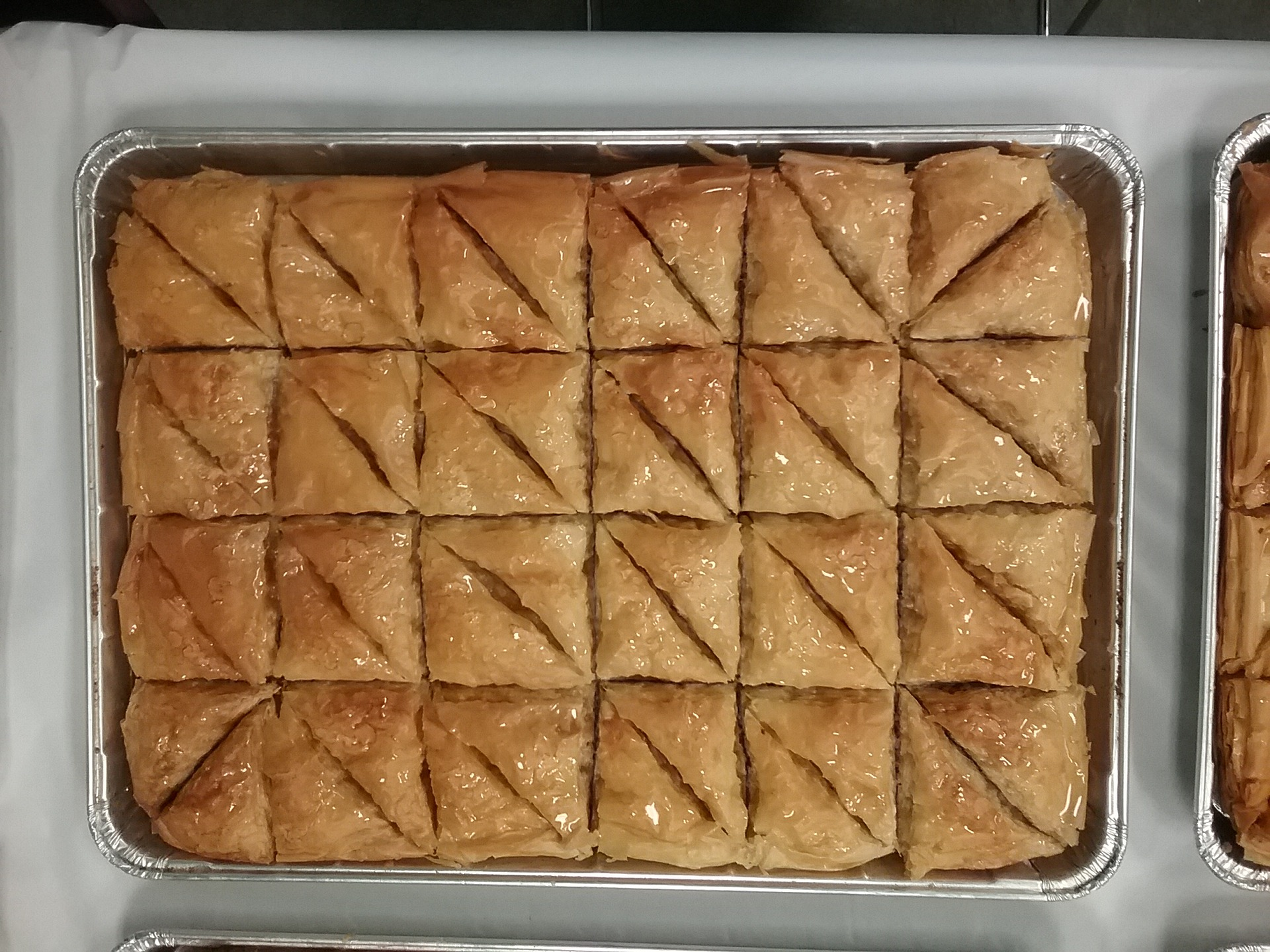 Jake and Telly's Catering: full tray of baklava