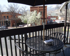 Jake and Telly's Patio in Spring