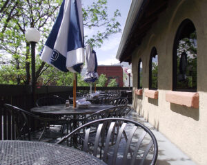 Jake and Telly's Patio tables, springtime