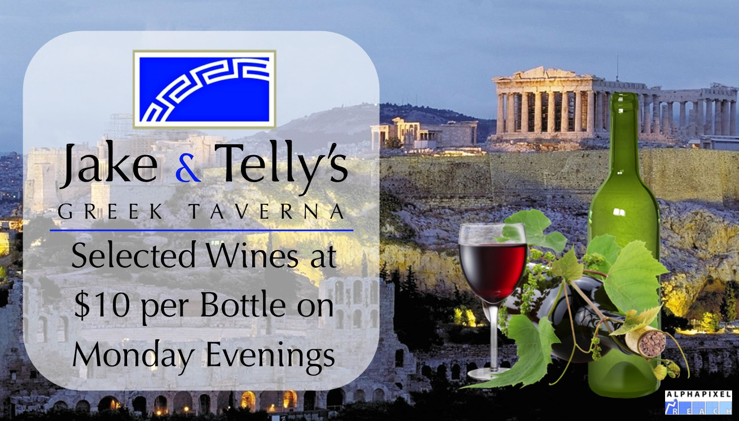 Monday Night Special: Select Wines at $10 per bottle.